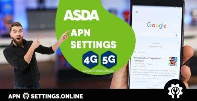 asda uk internet apn settings