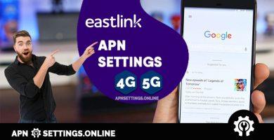 eastlink apn settings